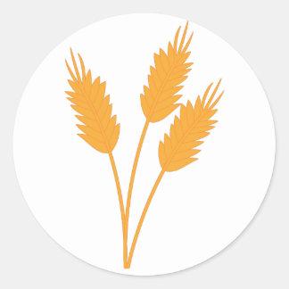 Wheat Stalk Classic Round Sticker