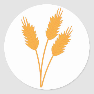 Wheat Stalk Round Sticker
