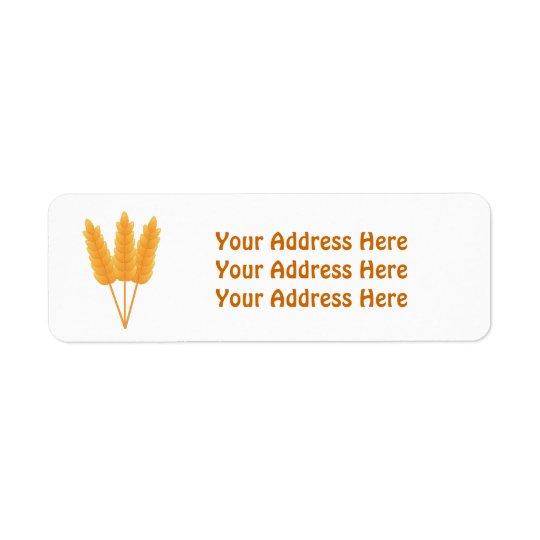 Wheat Stalks Address Labels