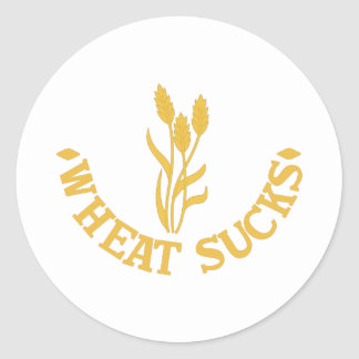 Wheat Sucks Round Sticker