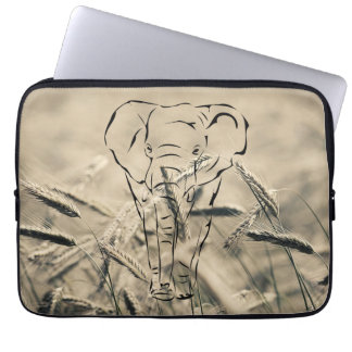 Wheat with elephant | computer sleeves