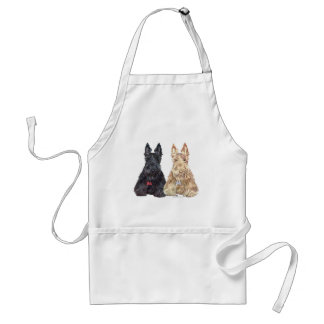 Wheaten and Black Scottie Dogs Standard Apron
