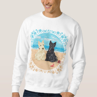 Wheaten & Black Scotties at the Beach Sweatshirt