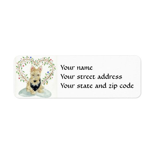 Wheaten Scottie return address label