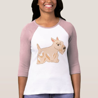 Wheaten Scottish Terrier Women's Raglan T-Shirt