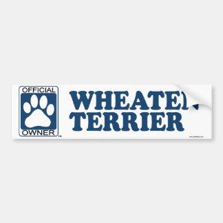WHEATEN TERRIER_blue Bumper Sticker