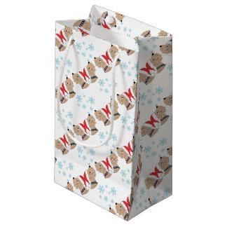 Wheaten Terrier Christmas Wrapping Small Gift Bag