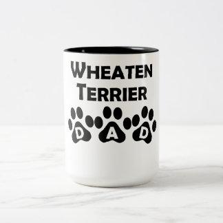 Wheaten Terrier Dad Two-Tone Coffee Mug