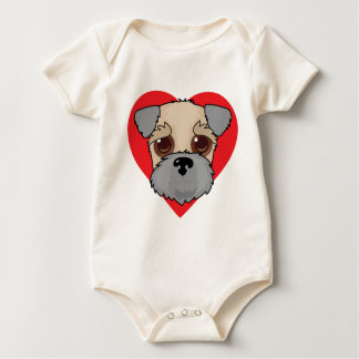 Wheaten Terrier Face Baby Bodysuit