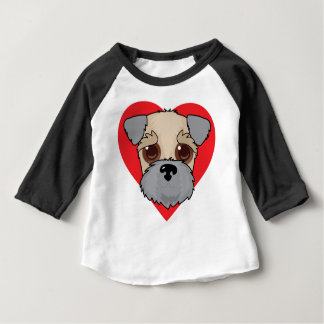 Wheaten Terrier Face Baby T-Shirt