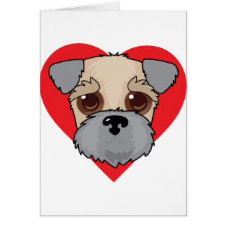 Wheaten Terrier Face Card