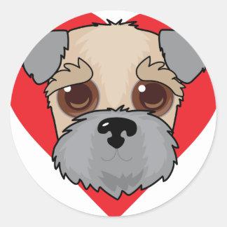 Wheaten Terrier Face Classic Round Sticker