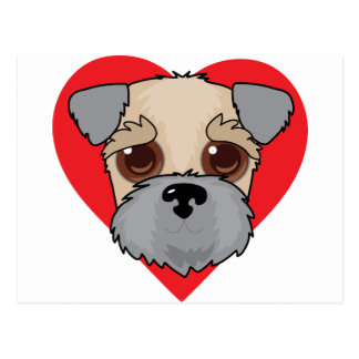 Wheaten Terrier Face Postcard