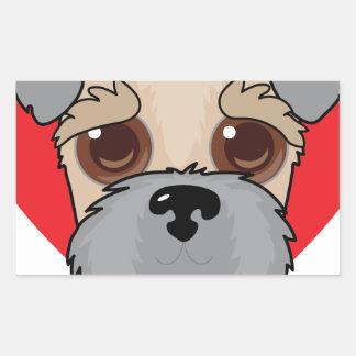 Wheaten Terrier Face Sticker
