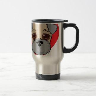 Wheaten Terrier Face Travel Mug