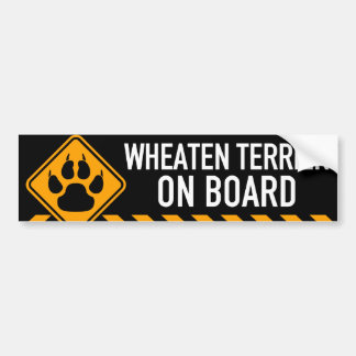 Wheaten Terrier On Board Bumper Sticker