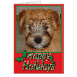 Wheaten Terrier Puppy Christmas Card