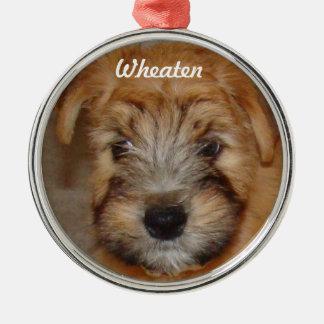 Wheaten Terrier Puppy Christmas Ornament