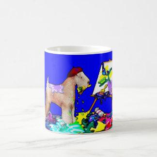 "Wheaten Terrier: ""The Painter"" (Blue) Mug"