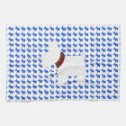 Wheaten Terrier with a Red Tartan Check Collar Kitchen Towel