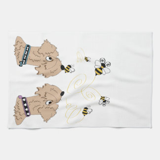 Wheatens and Bees Kitchen Towel
