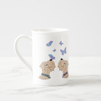 Wheatens and Butterflies Tea Cup
