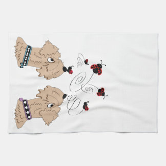 Wheatens and Ladybirds Kitchen Towel