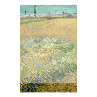 Wheatfield by Vincent Van Gogh Flyers