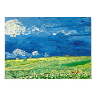 Wheatfield Under Thunderclouds by Vincent van Gogh Card