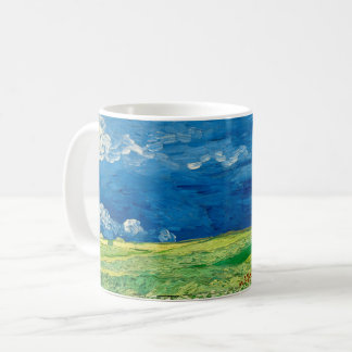 Wheatfield Under Thunderclouds by Vincent van Gogh Coffee Mug
