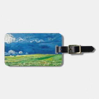 Wheatfield Under Thunderclouds by Vincent van Gogh Luggage Tag