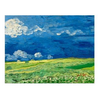 Wheatfield Under Thunderclouds by Vincent van Gogh Postcard