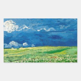 Wheatfield Under Thunderclouds by Vincent van Gogh Sticker
