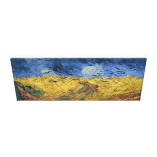 "Wheatfield with Crows 36"" x 12"", 1.5"", Single Canvas Print"