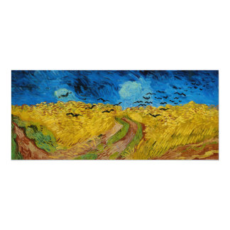 Wheatfield with Crows by Vincent van Gogh (1890) Card