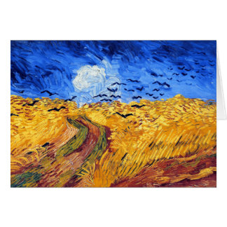 Wheatfield with Crows, Van Gogh Greeting Card