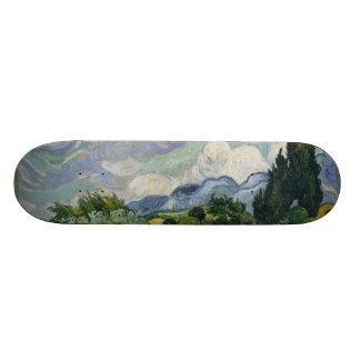 Wheatfield with Cypresses Custom Skate Board