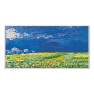Wheatfields Under a Clouded Sky Poster