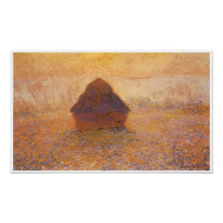 Wheatstack (Sun in the mist), 1891 Poster
