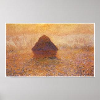 Wheatstack (Sun in the mist), 1891 Poster