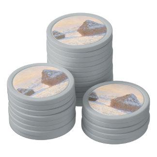 Wheatstacks, Snow Effect, Morning Poker Chip Set