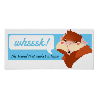 """Wheek!"" Guinea Pig Bumper Poster"