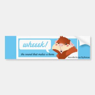 """""""Wheek!"""" Guinea Pig Bumper Sticker"""
