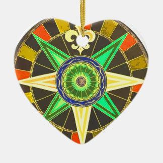 Wheel 1 ceramic heart ornament