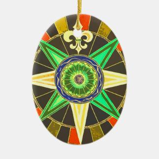Wheel 1 ceramic oval ornament