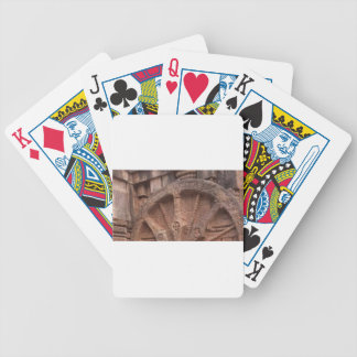 wheel bicycle playing cards