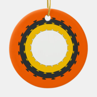 Wheel Ceramic Ornament
