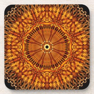 Wheel of Ages Mandala Drink Coasters
