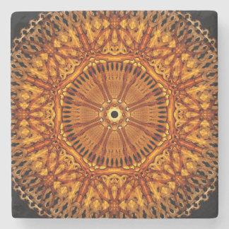 Wheel of Ages Mandala Stone Beverage Coaster