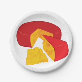Wheel Of Cheese Paper Plates 7 Inch Paper Plate